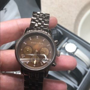 Michael Kors gently used chrome gold watch